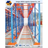 Buy cheap High Density Warehouse Shuttle Pallet Racking with Durable Steel , Blue Red from wholesalers