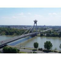 Concrete Deck Steel Cable Suspension Bridge prefabWith Rock Anchors