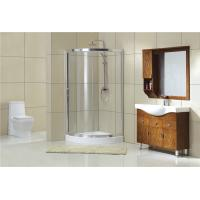 Buy cheap Chromed Sector Sliding Shower Doors With Aluminum Frames and Stainless Steel Wheels from wholesalers