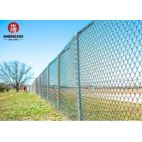 Buy cheap Width 0.5m Vinyl Covered Chain Link Fence 4mm Carbon Steel Wire Mesh from wholesalers