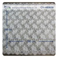 Wholesale Nylon Ivory Floral Scalloped Edged Normal Dyeing Bridal Dress Lace Fabric from china suppliers