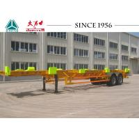 Wholesale Heavy Duty 50 Tons Skeletal Container Trailer 12420*2480*1540 Dimension from china suppliers