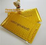 Buy cheap Slider padded grip seal Golden bags, air bubble bag with slider zipper,design custom anti static plastic black ziplock b from wholesalers
