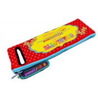 Wholesale Zippered Textile Neoprene Pencil Case With Colorful Printing For Kids from china suppliers