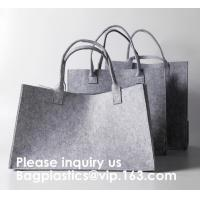 Buy cheap Promotional Custom Made Silk Screen Printing Tote Felt Bag, Shopping Bag,Beach Bag with Leather Handle Shopping Women Ba from wholesalers