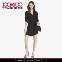 Buy cheap New Style Black Long Sleeves Button Front Casual Shirt Dress from wholesalers