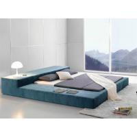 Buy cheap Euro Brown Faux Leather Full / Double Platform Bed from wholesalers