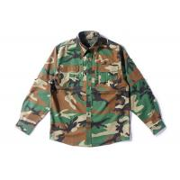Buy cheap Woodland Camo Tactical Combat Shirt With Hidden Pencil Pockets Long Sleeve from wholesalers