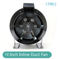 Buy cheap 10 Inch Steel Round Exhaust Inline Duct Fan for Hydroponics Grow Tent Ventilation / Smoke Extractor from wholesalers