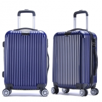 Wholesale Combination Lock Blue ODM Carry On Trolley Luggage from china suppliers