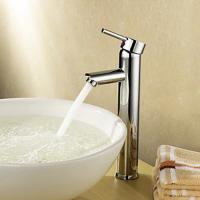 China Single Handle Deck Mounted Brass Bathroom Tap Chrome Plated For Above Counter Basin on sale