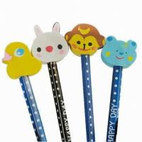 Animal Pencil Top Erasers For Kids Manufactures