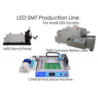 Buy cheap LED SMT Production Line CHMT36 Chip Mounter, Stencil Printer , Reflow Oven T960, for small factory from wholesalers