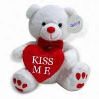 8 inch Valentines Stuffed Animals Small Plush Bear For Holiday Promotion Manufactures