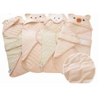 Wholesale Infant Sleep Bed Cover Embroidery Baby Blanket With Sticker , animal print fleece blankets from china suppliers