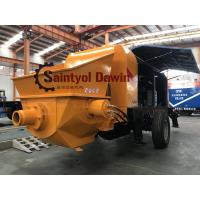 Buy cheap Powerful 30 m3/hr ~80 m3/hr trailer hydraulic concrete pump with diesel or electric power from wholesalers