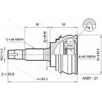Buy cheap CV JOINT TOYOTA TO-12 from wholesalers