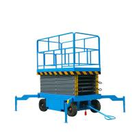Buy cheap Mobile Aerial Scissor Lift , Yellow Black 1 Ton 9 Meter Hydraulic Elevator Lift from wholesalers