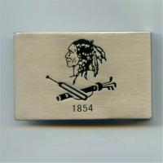 Buy cheap Antique nickel flat belt buckle with enamel logo, China factory custom men belt buckles, from wholesalers