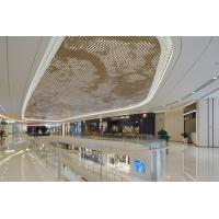 Buy cheap 2.5MM PVDF Coating Luxury Gold Metal Ceiling Panels For Shopping Mall Commercial Building from wholesalers