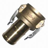 Buy cheap Brass Camlock Coupling with Hose Shank/Cam & Groove Fitting, Type C, Measures 1/2 to 8 Inches from wholesalers