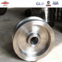 Buy cheap Heat Treatment / Quench Casting Wire Rope Pulley Stainless Steel Sheaves from wholesalers