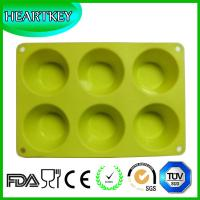 Buy cheap High Quality Non-stick Silicone 6 Cup Cake Maker Tray Muffin Pan Baking Jelly Mold from wholesalers