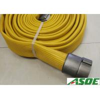 Buy cheap NBR Coverd Smooth Face Lay Flat Fire Hose With Brass Couplings 4 Inch 300 Psi from wholesalers