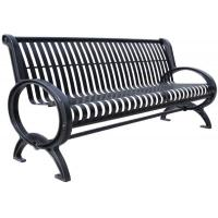 China Customized Stainless Steel Outdoor Bench Metal Garden Furniture Corrosion Resistant on sale