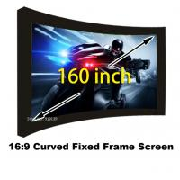 Buy cheap Amazing Picture Screen 160 Inch Curved Fixed Frame Projector Screens 16:9 Scale Support 3D from wholesalers