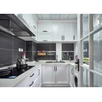 Buy cheap White Membrane Press Kitchen Cabinet Quartz Stone Countertop Overall Cabinet Customized from wholesalers