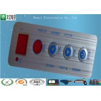 Buy cheap Waterproof Membrane Switch Touch Panel Overlay Red Window Silver Contact Pad from wholesalers