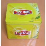 Buy cheap Tea tin box, tea tin can, metal box, tin can, square tin can from wholesalers