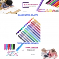 Buy cheap Writing Smoothly Lucid Barrel 12 Color Line Air Erasable Pen from wholesalers