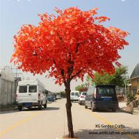 Buy cheap Red Leaves Indoor Vase Planting Artificial Maple Tree Acid And Alkali Resistant from wholesalers
