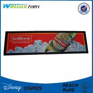Customized Thin Rubber Bar Spill Mats Anti Fatigue Bar Drink Mats Non - Woven Fabric
