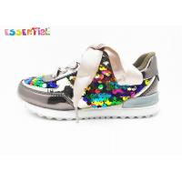 Buy cheap Girls' Fashion Casual Shoes Multi Color Sequins And TPU Satin Ribbon Laces from wholesalers