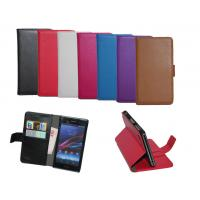 Buy cheap Sony Xperia Z1 L39H wallet purse leather case cover piel capa funda hulle coque Custodia from wholesalers