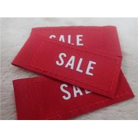 Buy cheap Silk Printing White Logo On Woven Clothing Labels For Jacket Comfortable from wholesalers