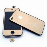 Buy cheap Gold Electroplating LCDs for iPhone and Back Cover Assembly Part, Ideal for iPhone 4 from wholesalers