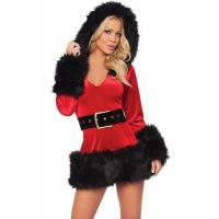 Buy cheap Fancy Fur Black Red Adult Christmas Costumes Mascot Cosplay For Girl from wholesalers
