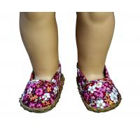 Buy cheap Stylish Fashions Floral Pattern Red Doll Shoes for American Girl Dolls Shoes from wholesalers