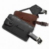Wholesale Luggage Tags, Made of Simulated Leather PU, Measures 2.75 x 4.5 Inches from china suppliers