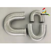 China Heat Resistant Fireproof Semi Rigid Aluminum Duct Flexible Air Exhaust Duct Hose Pipe on sale