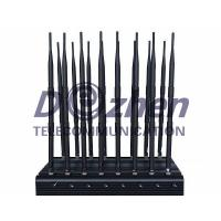 Buy cheap Full Bands Jammer Adjustable 16 Antennas Powerful 3G 4G Phone Blocker &WiFi UHF VHF GPS L1/L2/L5 Lojack Remote Control A from wholesalers