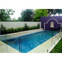 Buy cheap Brown 10mm Frameless Swimming Pool Glass Fence With Thermal Resistant from wholesalers