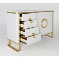Buy cheap Luxury Hotel Bedside Tables with Drawer , Commercial Modern TV Cabinet from wholesalers