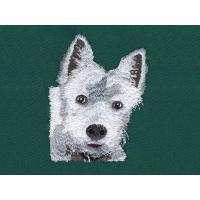 Dog tape embroidery digitizing services WAF9901a with color Black,White and so on Manufactures