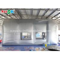 Buy cheap Portable 8.5*4.5*4 Meter Blow Up Paint Booth Oxford Cloth + Transparent PVC Material from wholesalers