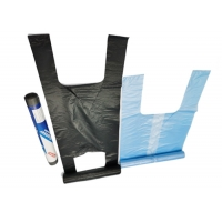Buy cheap 22 Inches Recyclable Reusable Bags Plastic Vest Carrier Bags Bottom Heat Seal from wholesalers
